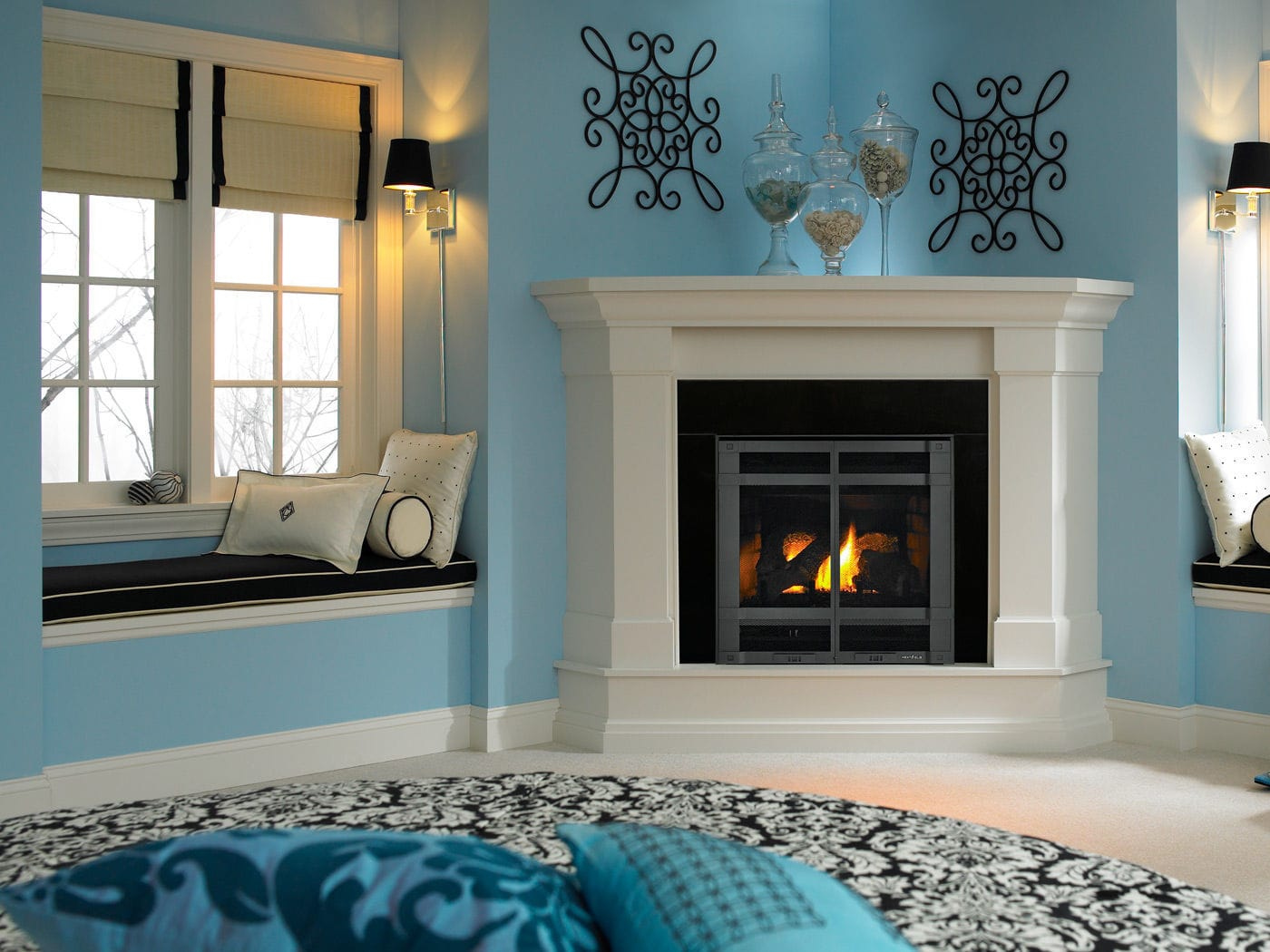 Gas Fireplace Traditional Closed Hearth Built In Slimline
