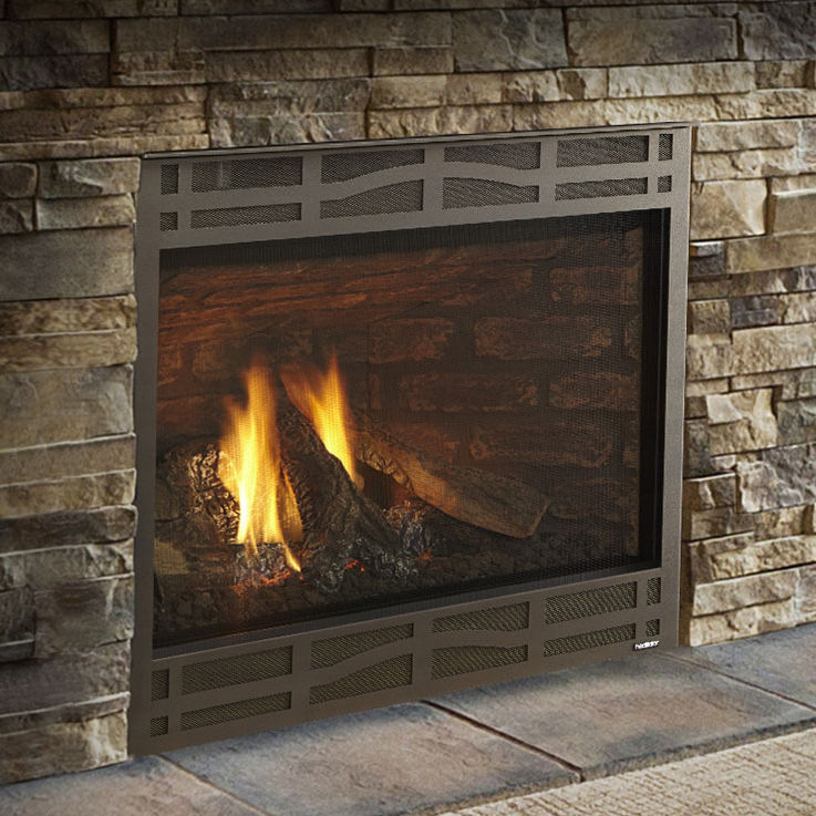 Gas Fireplace Contemporary Closed Hearth Built In Novus