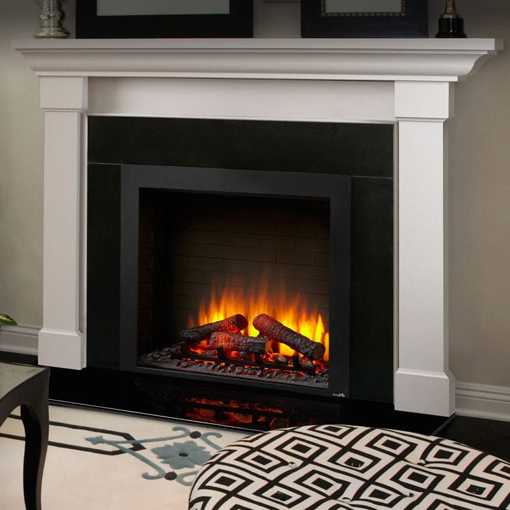 Electric Fireplace Traditional Closed Hearth Built In