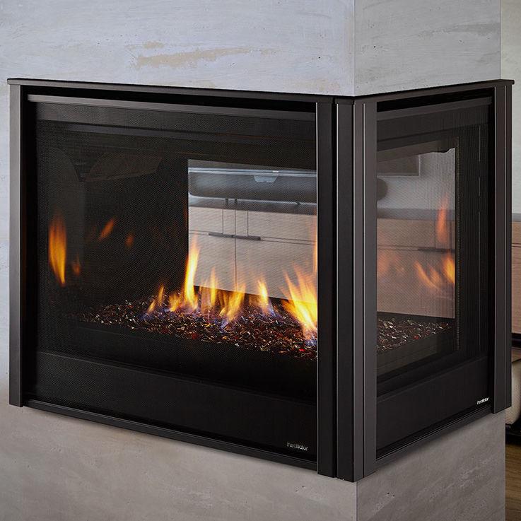 Sensational Gas Fireplace Traditional Closed Hearth 3 Sided Peninsula Heatilator Download Free Architecture Designs Rallybritishbridgeorg