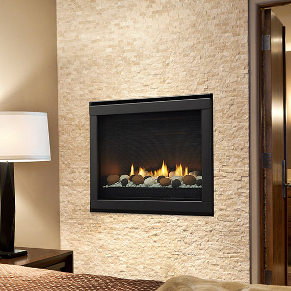 Gas Fireplace Contemporary Closed Hearth Built In Eclipse
