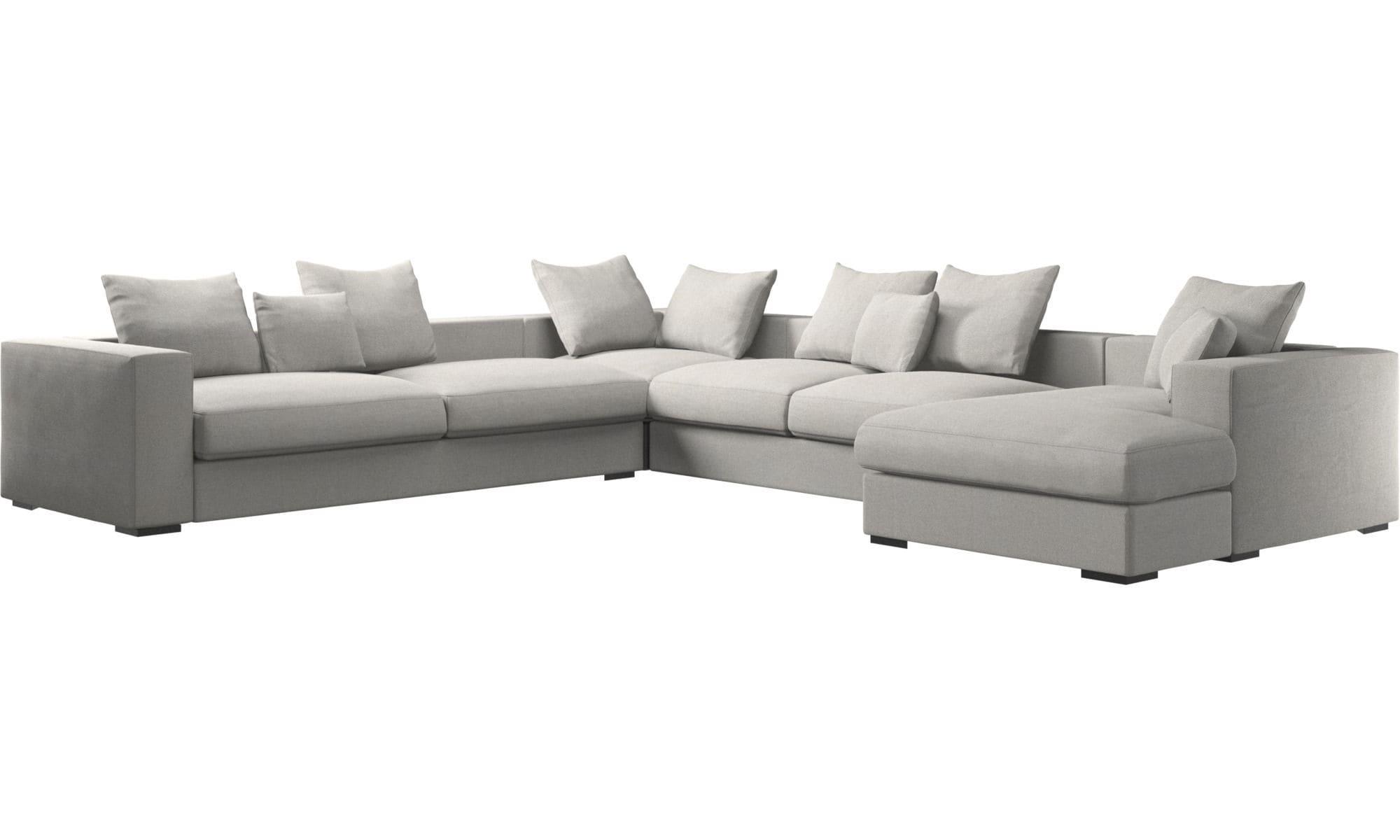 Corner Sofa Modular Contemporary Leather