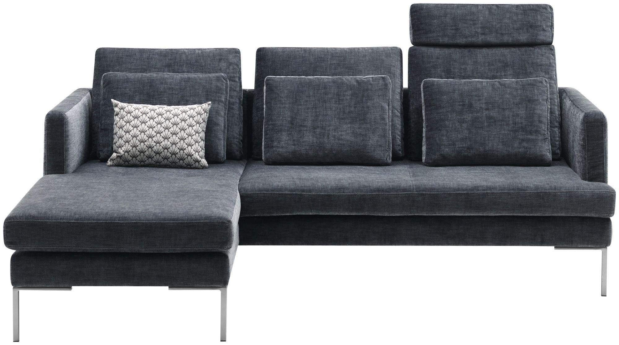 corner sofa / contemporary / leather / fabric
