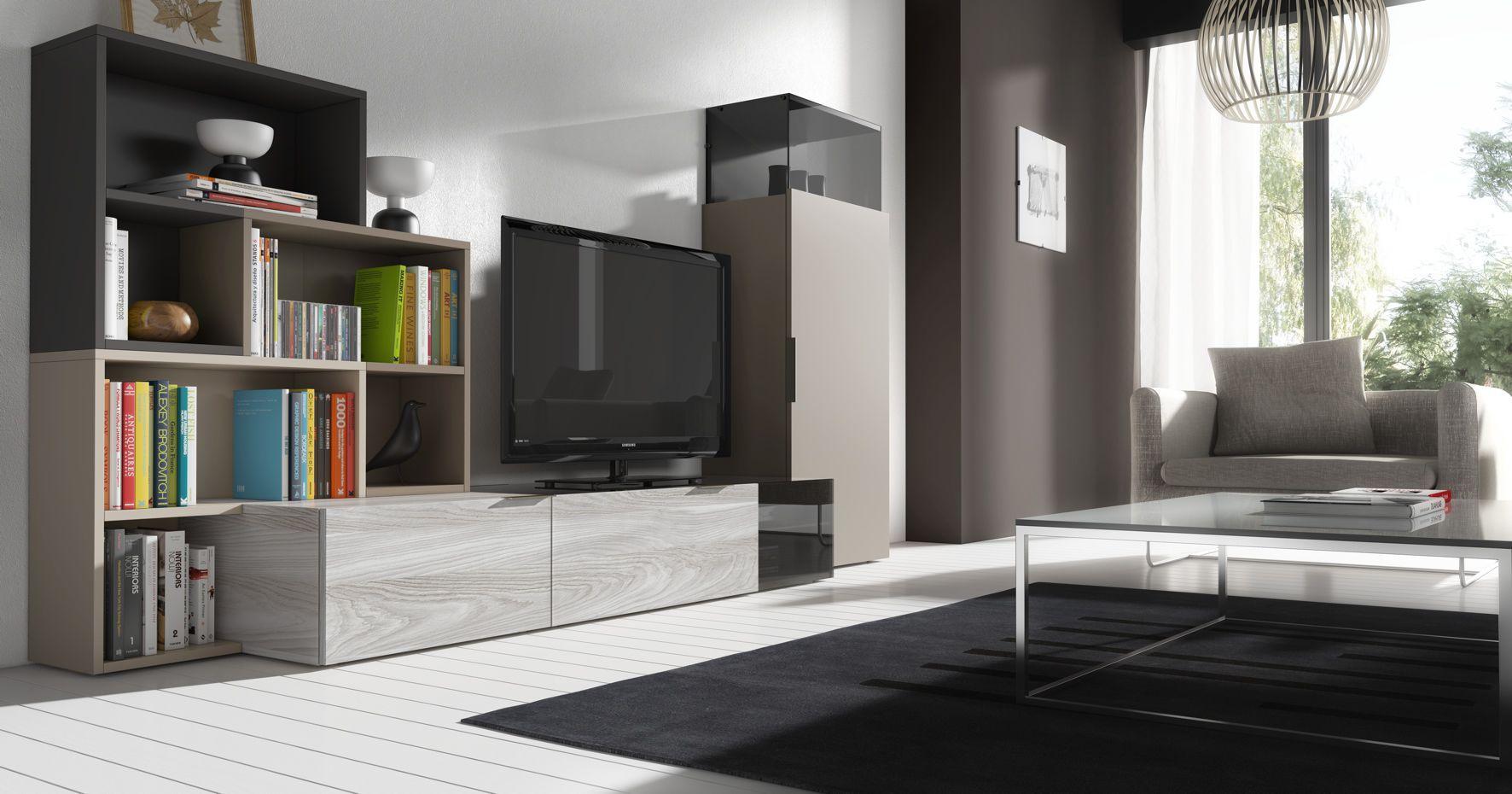 Contemporary Tv Wall Unit Lacquered Wood Iline 4 Piferrer # Muebles Piferrer Iline
