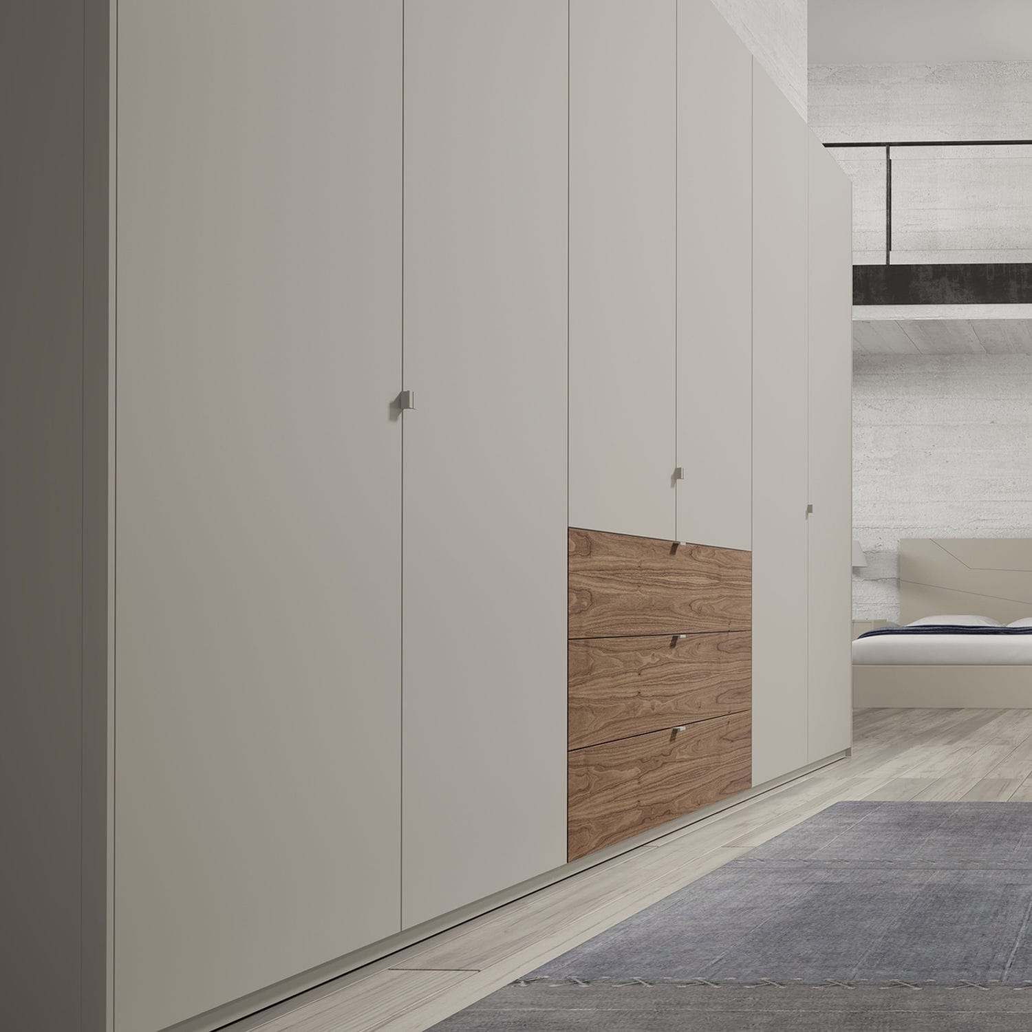 Contemporary Wardrobe Lacquered Wood With Swing Doors With  # Muebles Piferrer Iline