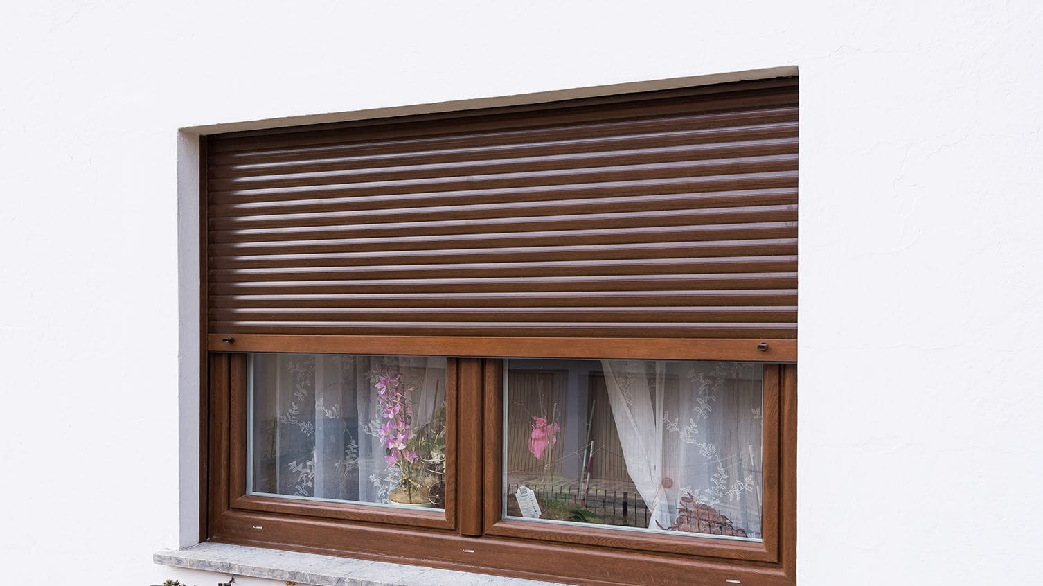 Roller Shutter Pvc Window Thermally Insulated Drutex