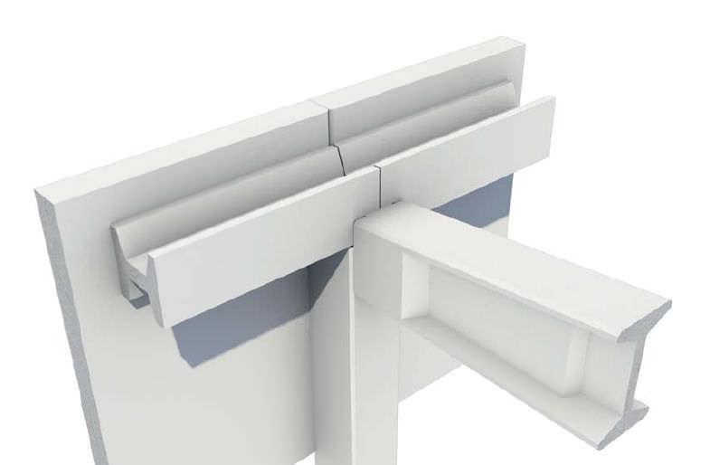 Square roof gutter / precast concrete - H-40 - PRETERSA