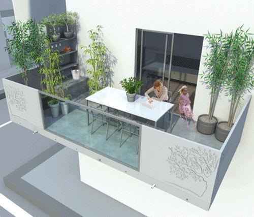 concrete balcony detail Balcony With Panels Concrete FBLADE Fehr