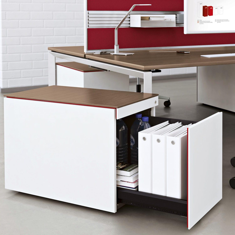 Steel Office Unit Implicit Steelcase Melamine 2 Drawer 3 Drawer