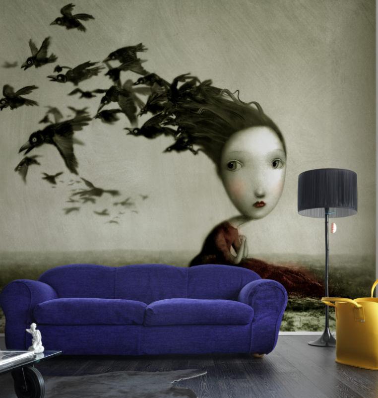 Contemporary Wallpaper Nonwoven Fabric Fiberglass