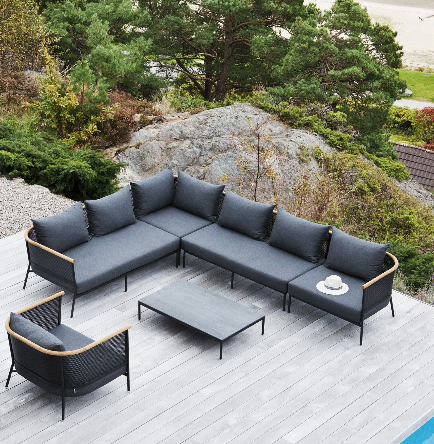 Modular sofa / contemporary / outdoor / Sunbrella® - RIAD ...