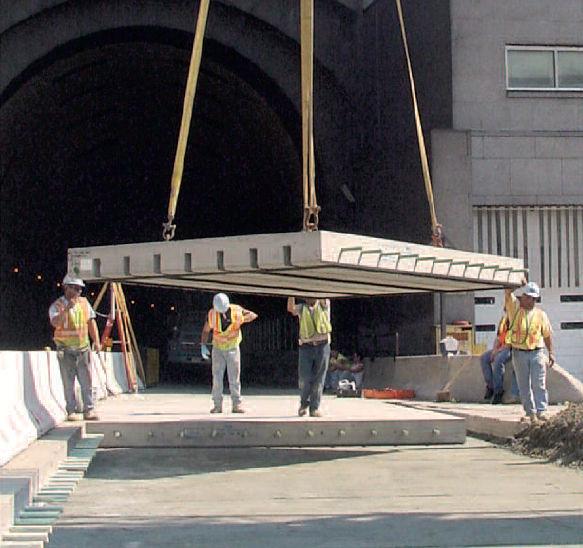 Reinforced concrete deck slab / for bridge construction SUPER The Fort  Miller Co