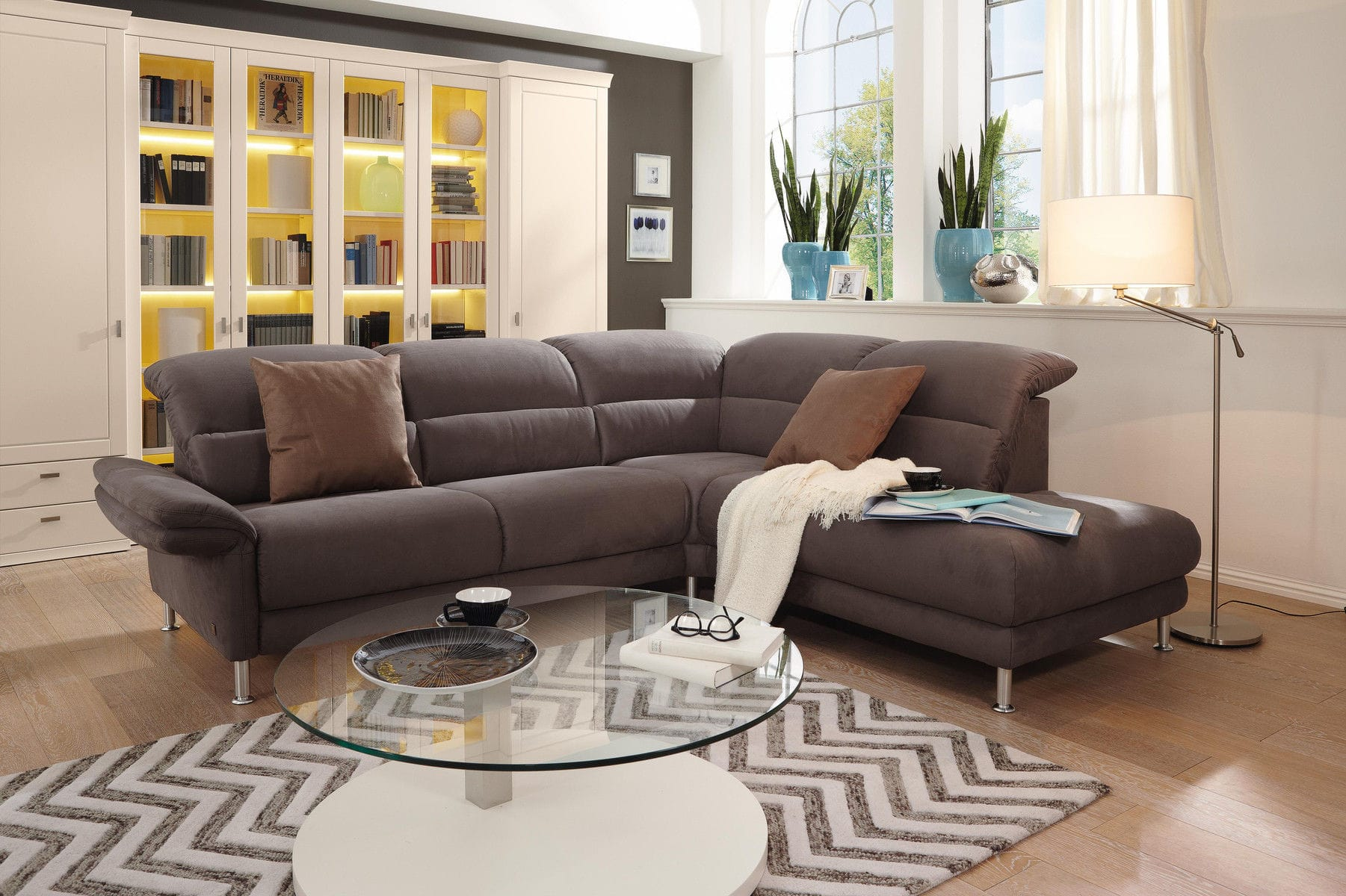Modular Sofa Contemporary Fabric Leather Mr 390 Musterring