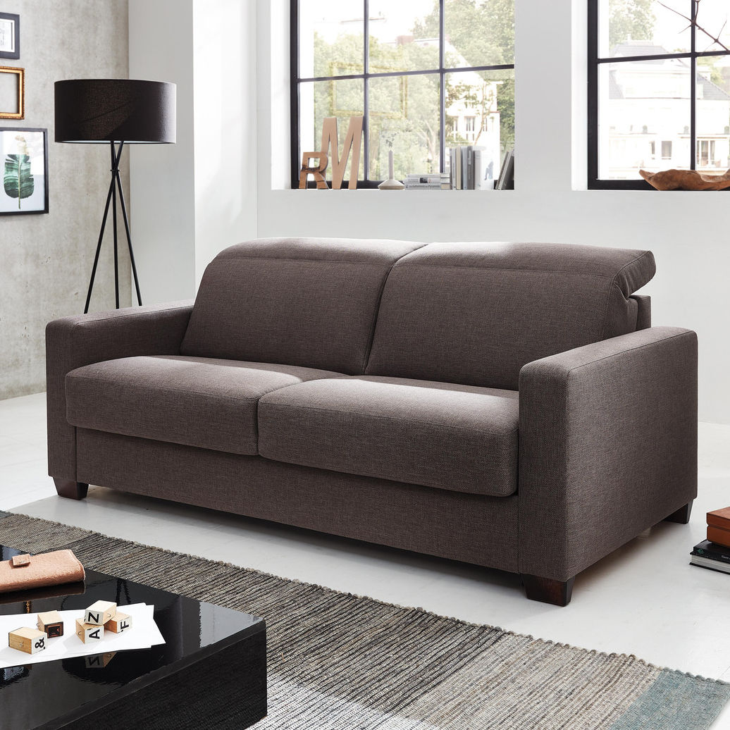 Sofa Bed Mr 840 Musterring Contemporary Fabric With Headrest