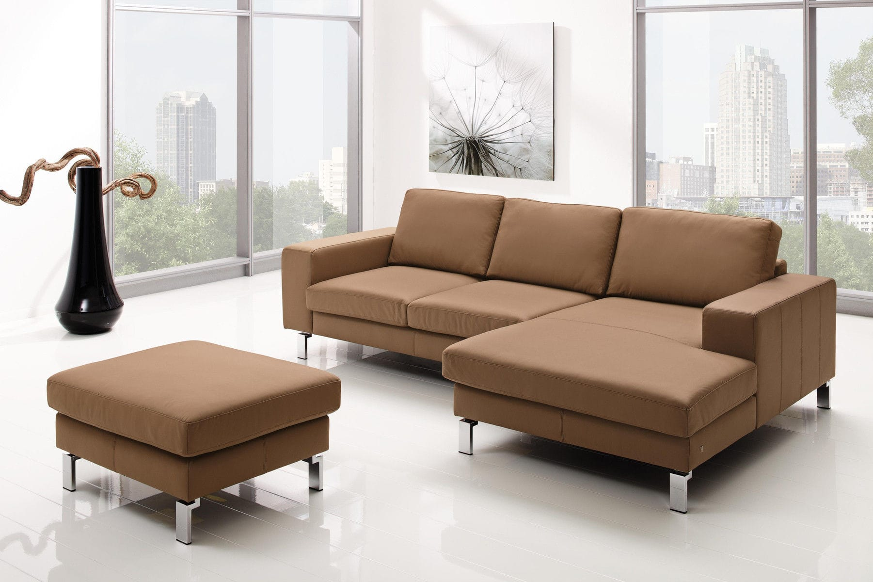 Modular Sofa Contemporary Fabric Leather Mr 4500 Musterring