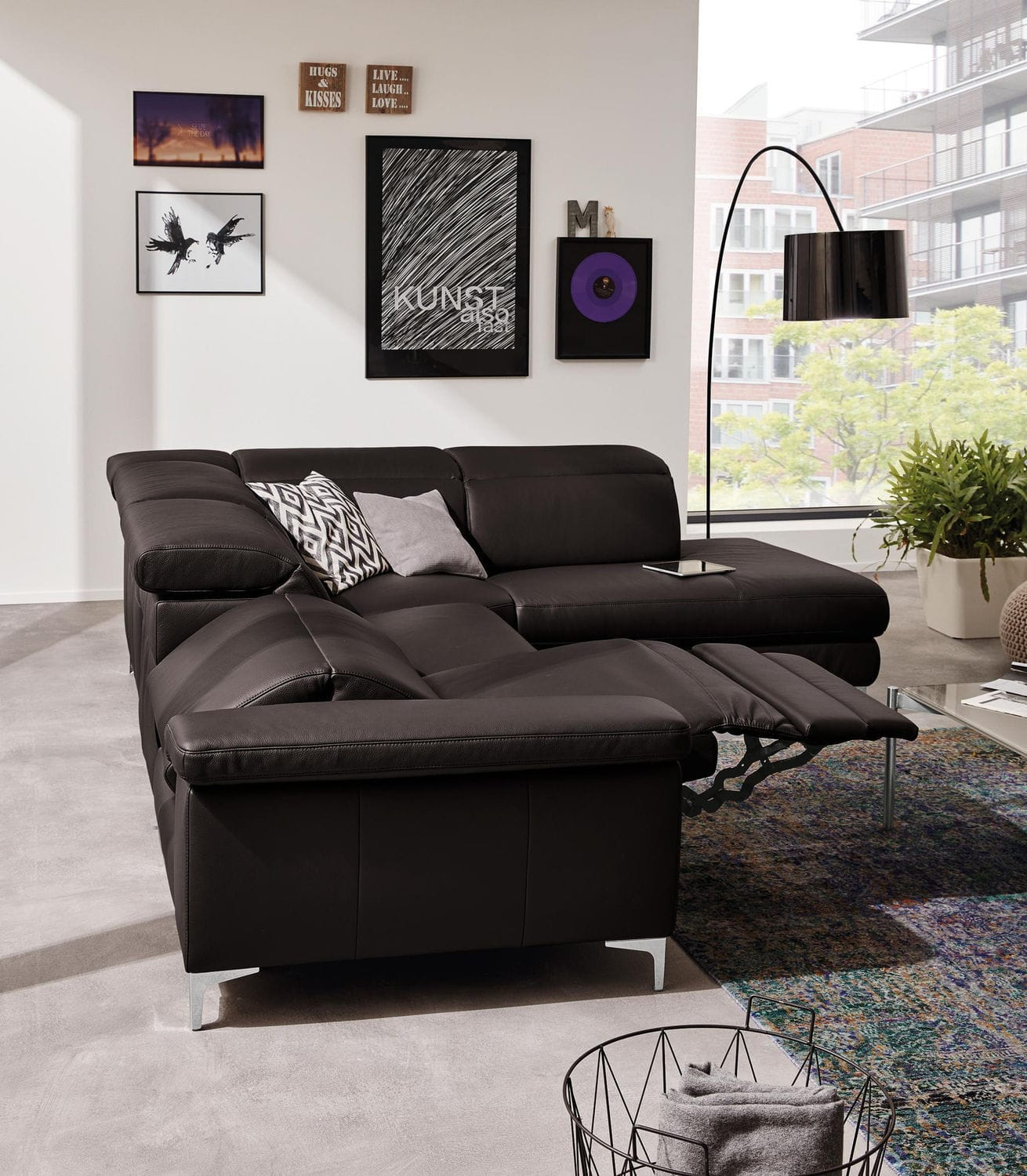 Modular Sofa Corner Contemporary Leather Mr 4930