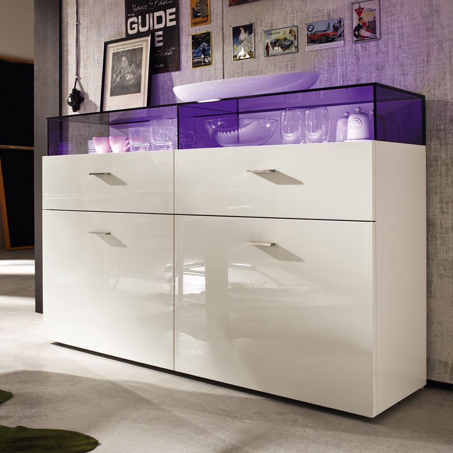 Contemporary Sideboard Oak Walnut Glass Now No14 39525 Now By Hülsta