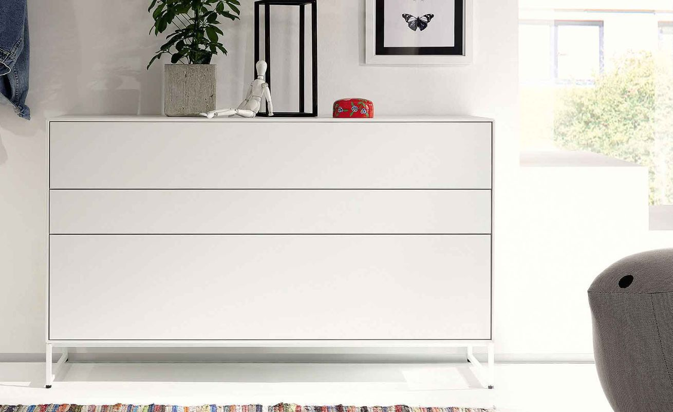 Contemporary Chest Of Drawers Lacquered Wood Metal Now