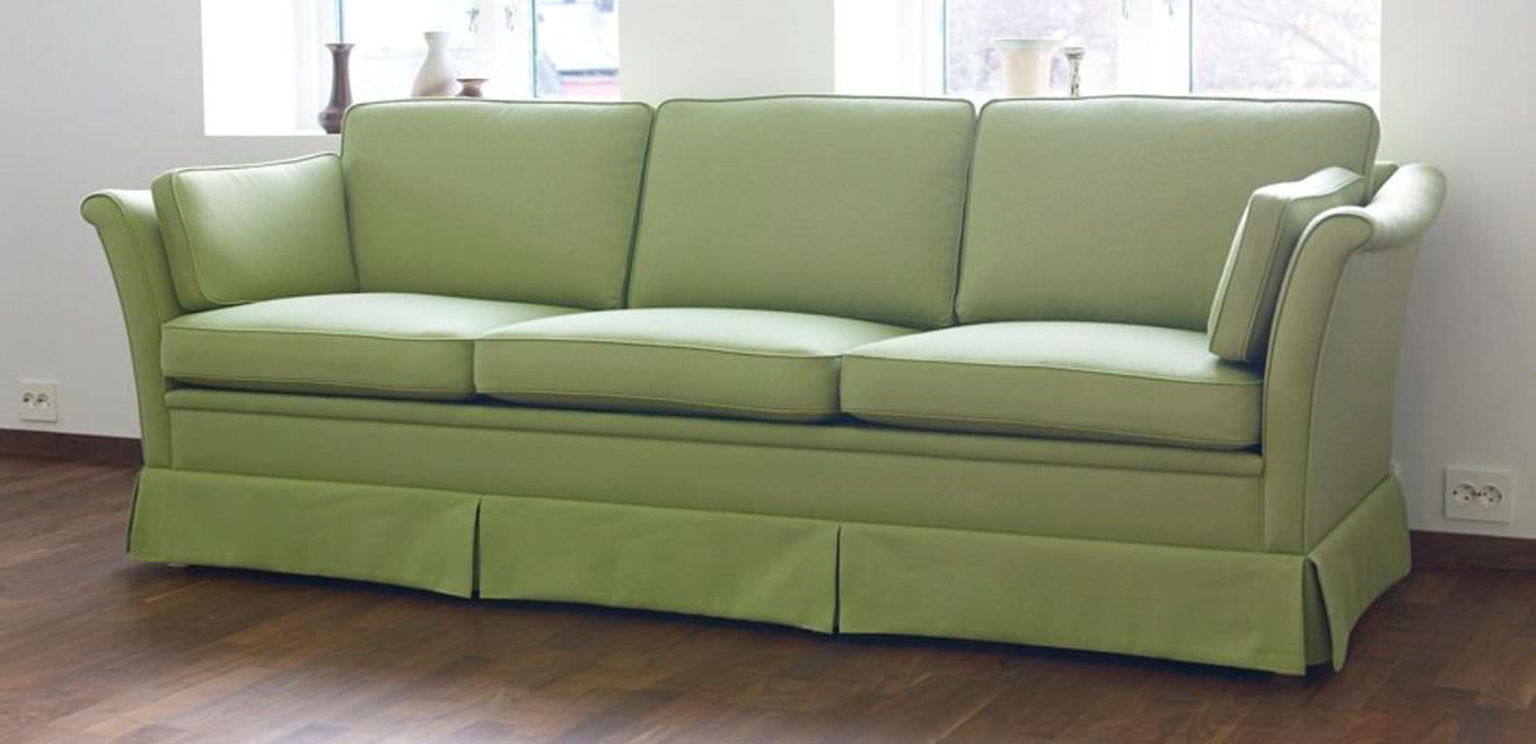 Traditional Sofa Fabric 3 Seater With Removable Cover