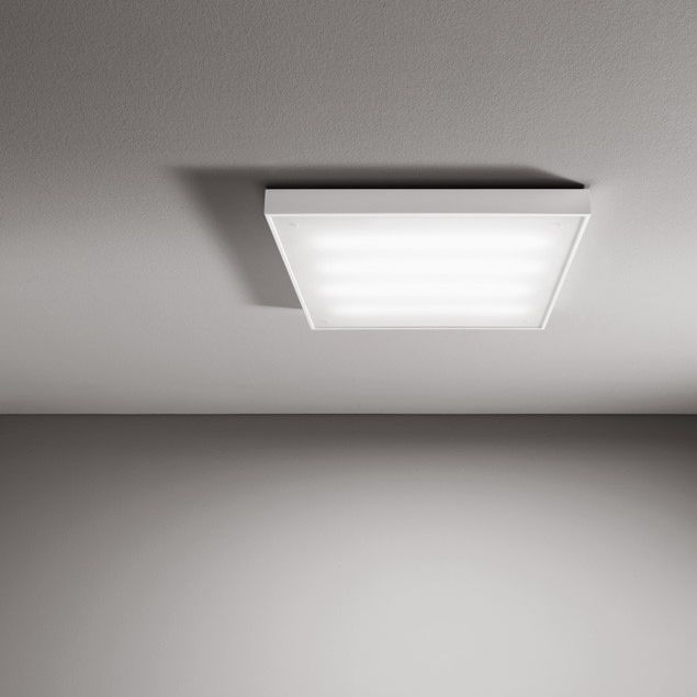 Surface Mounted Light Fixture Fluorescent Square