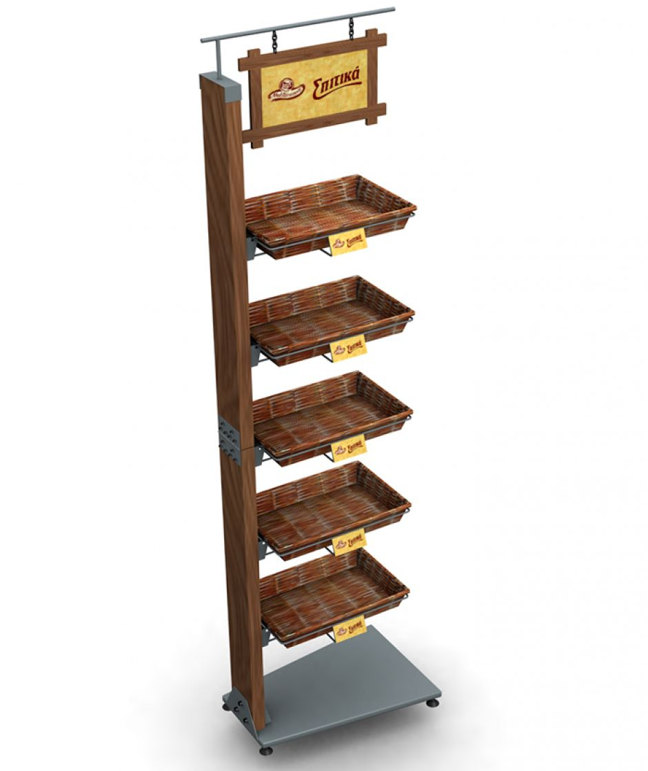 Food Display Rack Wooden For S Lays