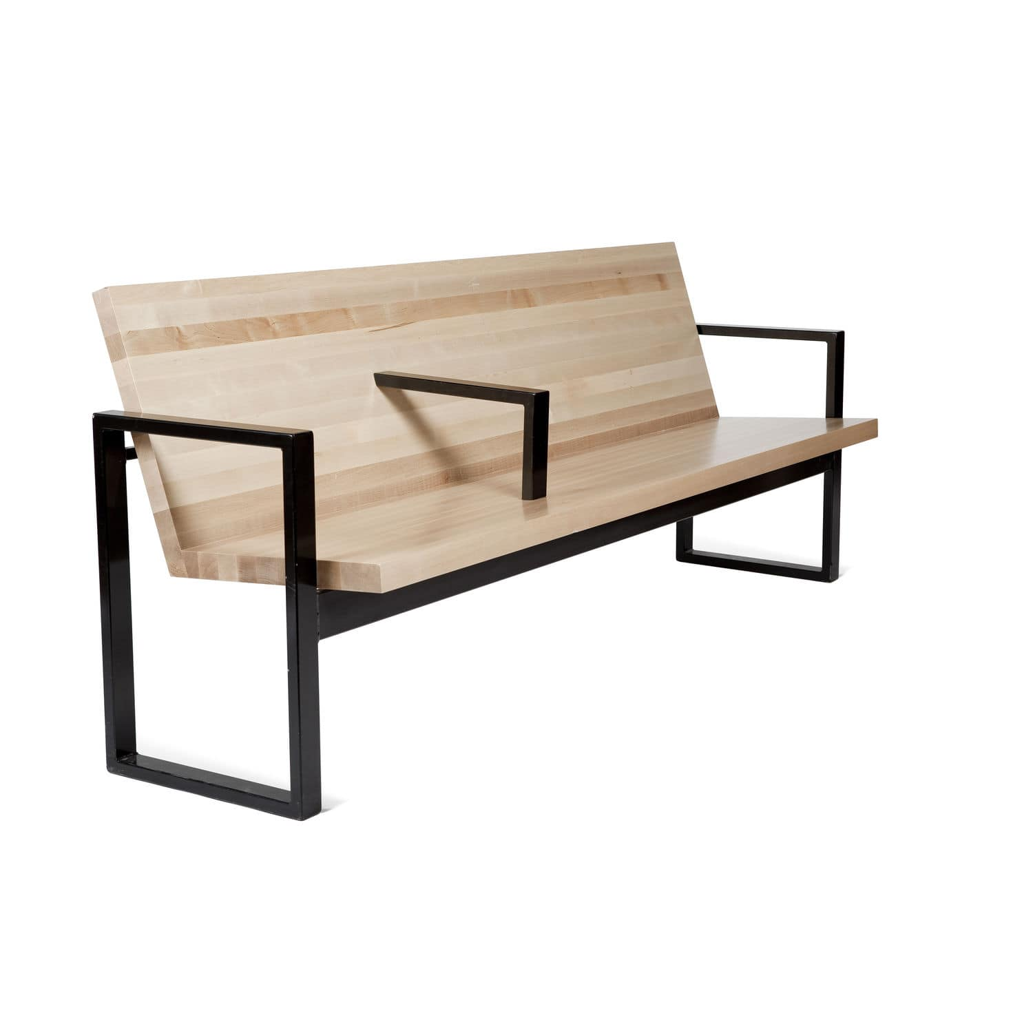 Garden Bench Contemporary Wooden Metal So 370 By Efs