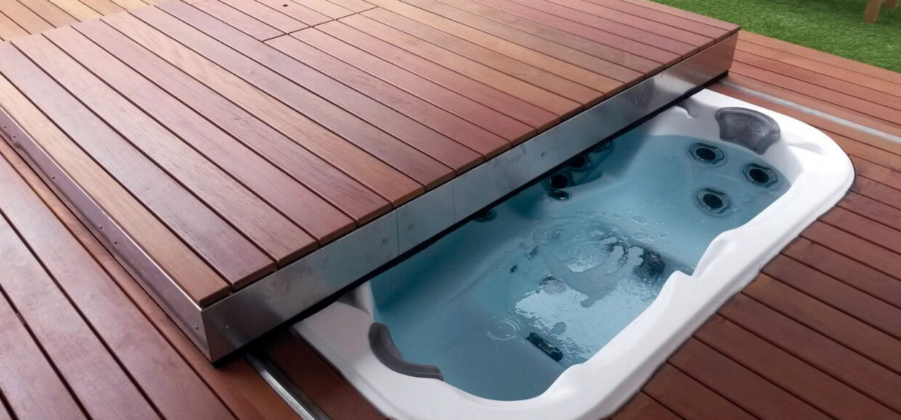Automatic Sliding Deck Pool Cover Ambient 100 Egoe Security Thermal