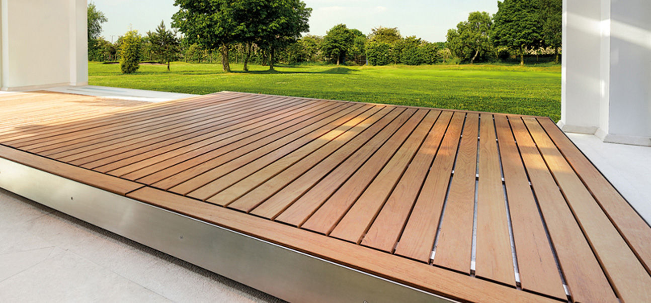 Automatic Sliding Deck Pool Cover Ambient 300 Egoe Security Thermal