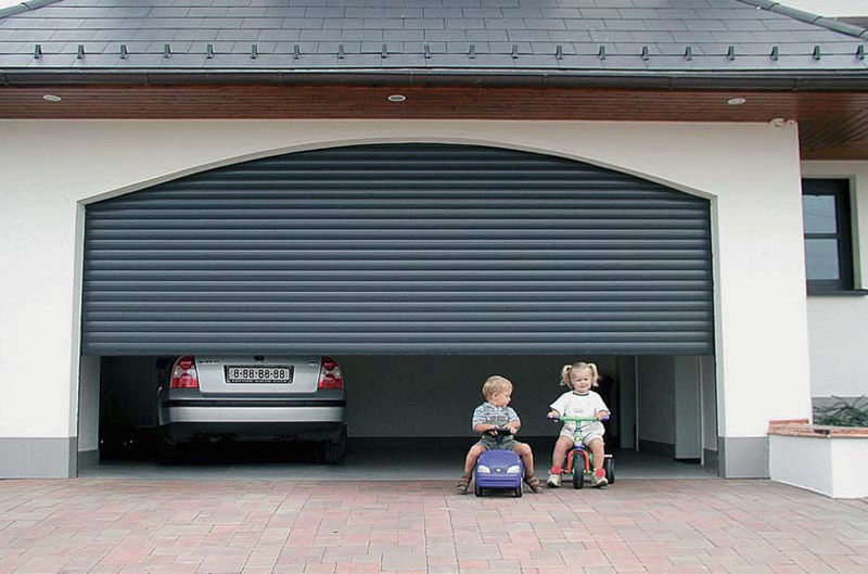 Sectional Garage Door Roll Up Aluminum Polyurethane Foam Vidok