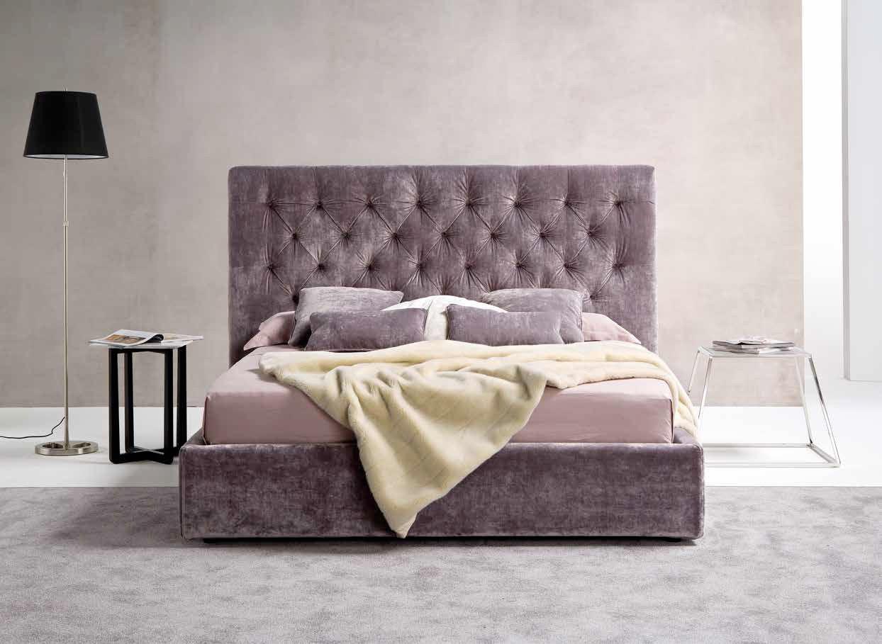 Lit Avec Tete De Lit Matelassé double bed / traditional / upholstered / with headboard