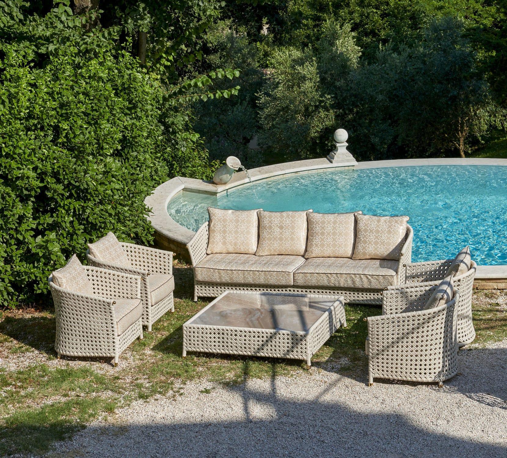 Traditional sofa - WEZEN - Samuele Mazza by DFN srl - garden