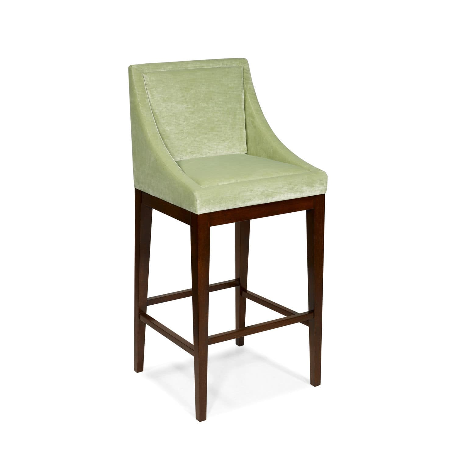 Admirable Traditional Bar Chair Upholstered With Footrest Fabric Squirreltailoven Fun Painted Chair Ideas Images Squirreltailovenorg