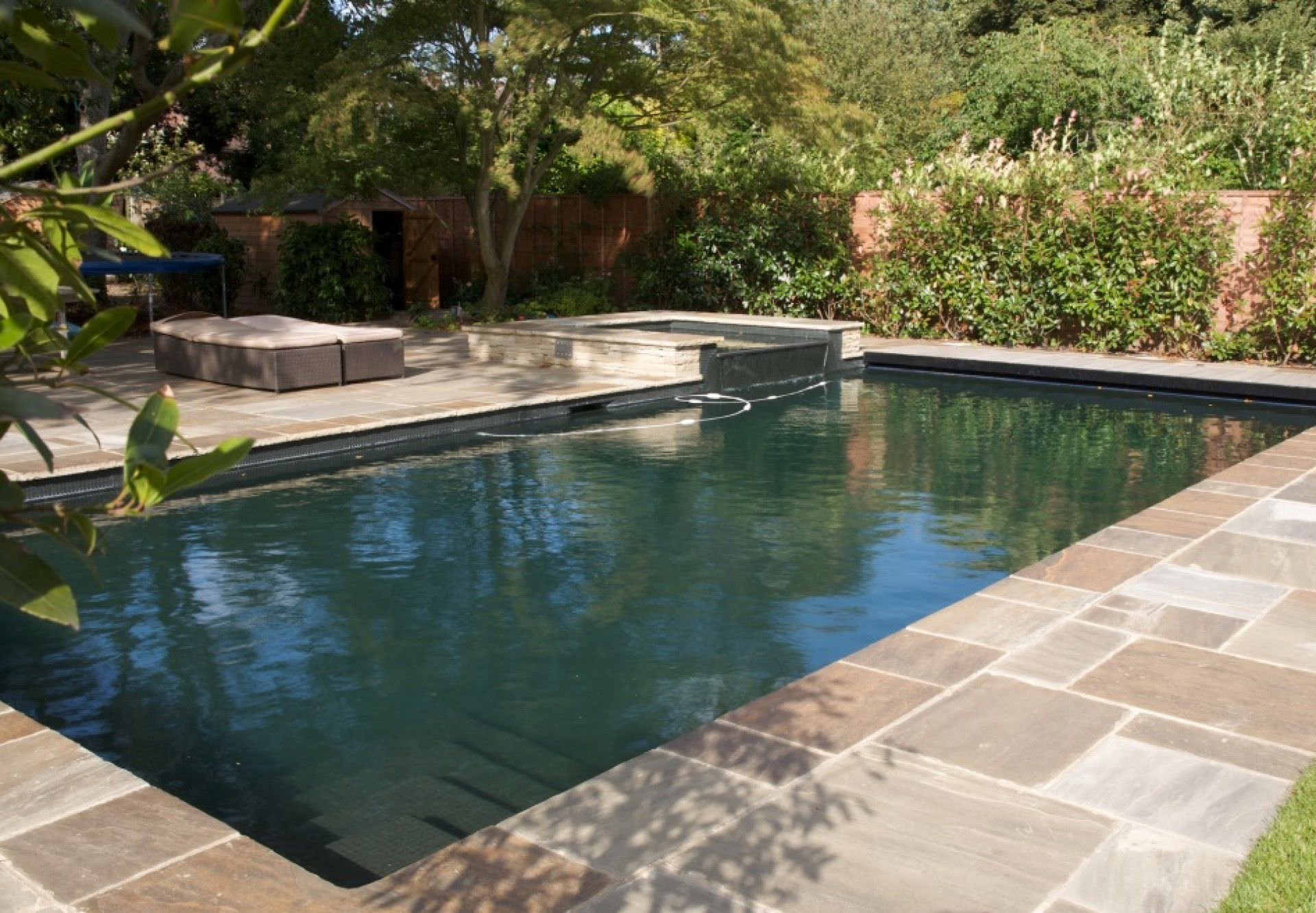 In-ground swimming pool / natural / mosaic / outdoor - SOUTH LONDON ...