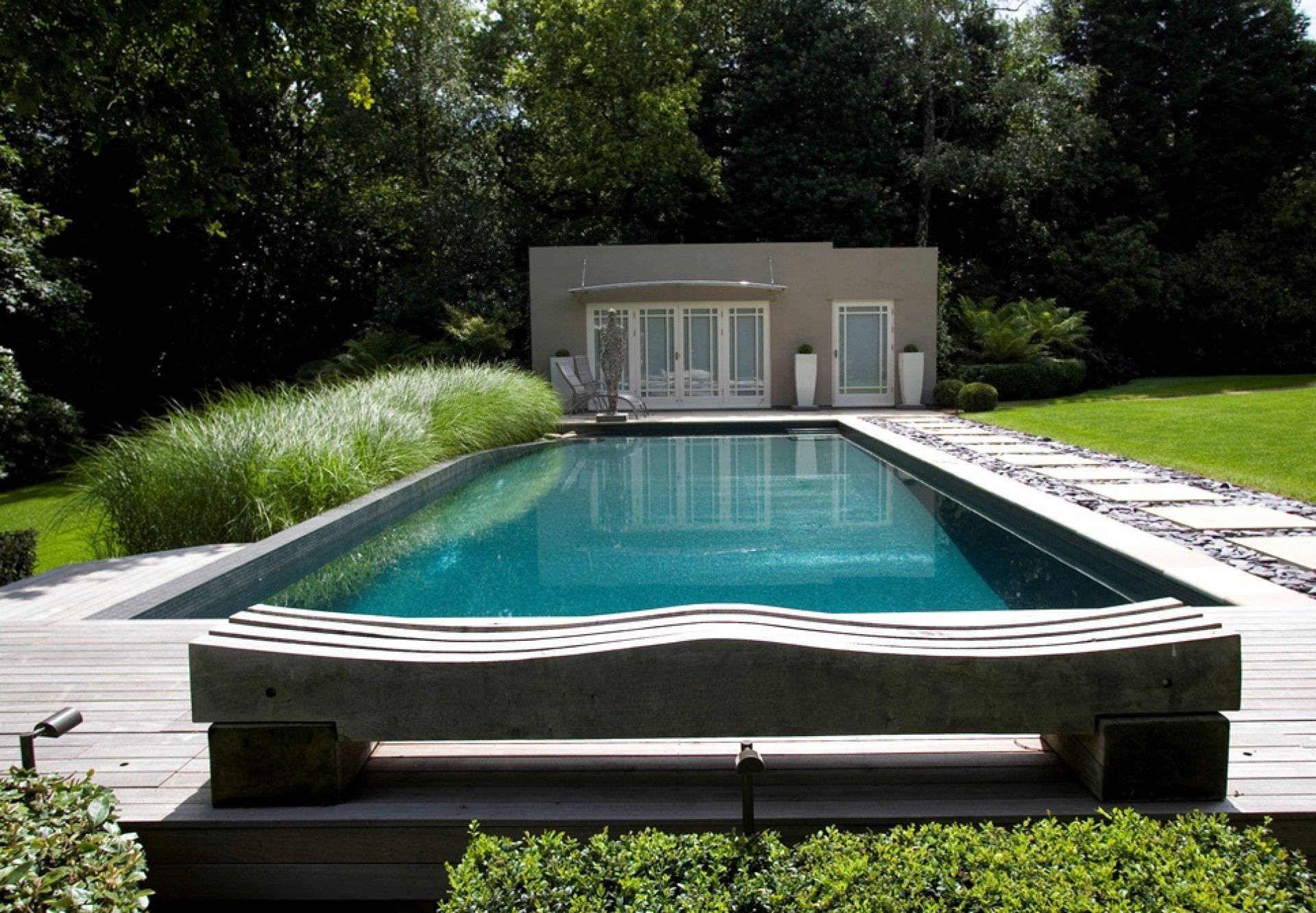 Natural swimming pool / in-ground / concrete / outdoor ...