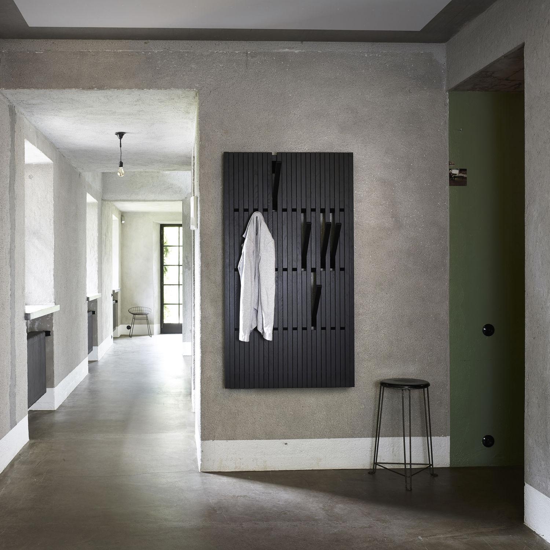 Piano coat rack hand made wood coatrack hanger music keyboard black /& white wall