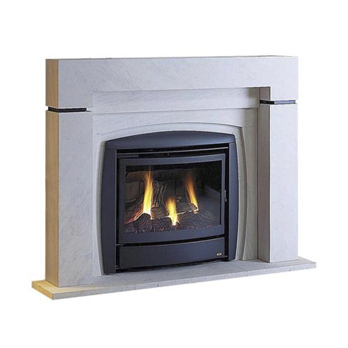 Gas Fireplace Insert Flame Effect Merapi Auer