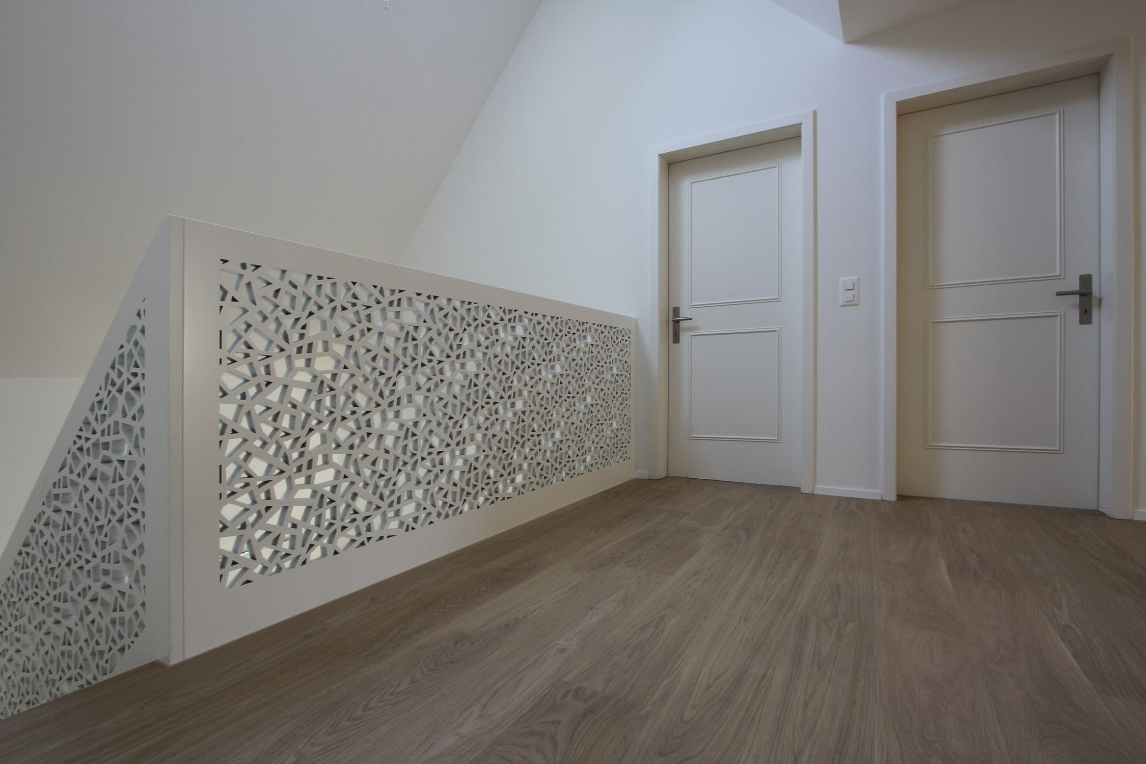 Mdf Railing With Panels Indoor For Stairs Single