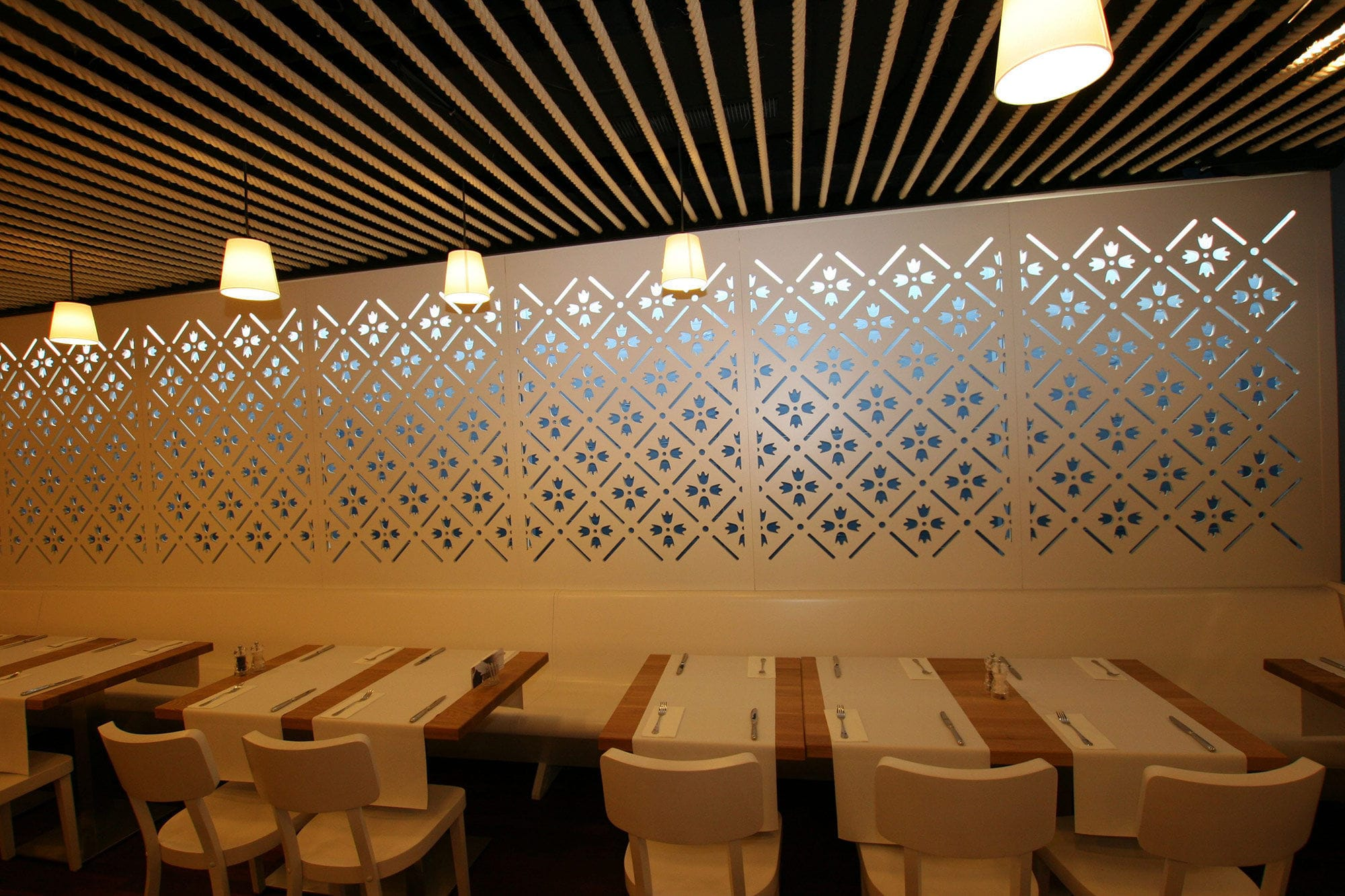 Mdf Decorative Panel For Parion Walls Backlit Perforated