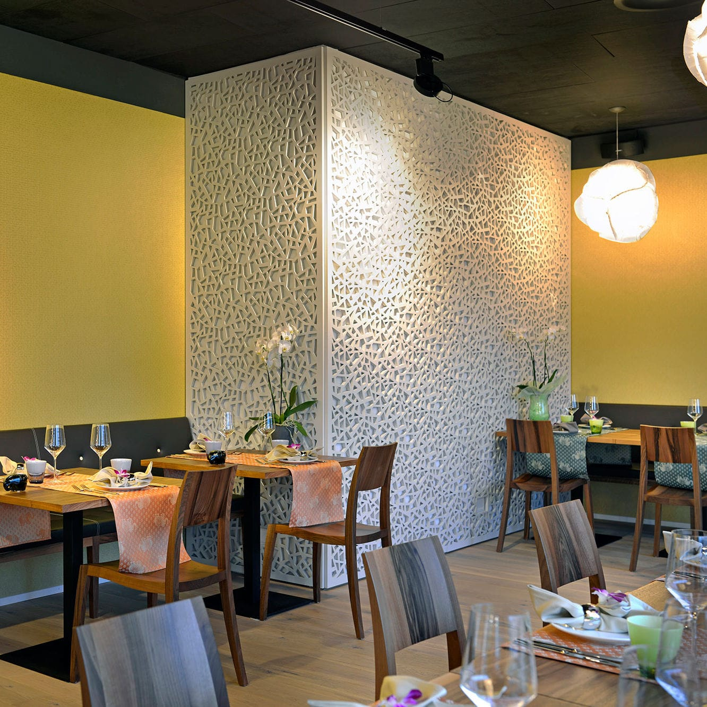 Decorative Wall Cladding Restaurant Meiers Come Inn Bulach Bruag Ag Wooden Interior Textured