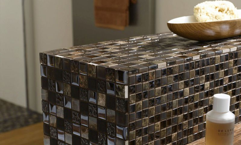 Bathroom Mosaic Tile Wall Gl Geometric 2488