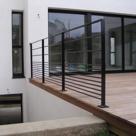 Metal Railing With Bars Outdoor For Patios Cabourg