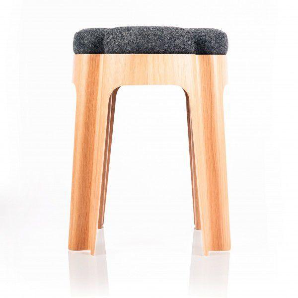 Groovy Contemporary Stool Plywood Wood Veneer Wool Bloom Pdpeps Interior Chair Design Pdpepsorg