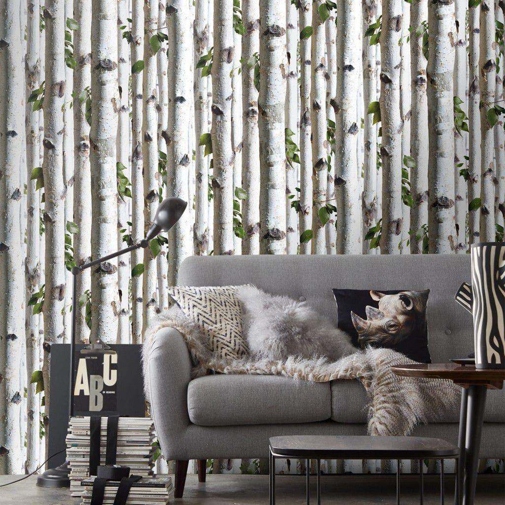 Papier Peint Trompe L Oeil Koziel contemporary wallpaper / nature pattern / panoramic / green