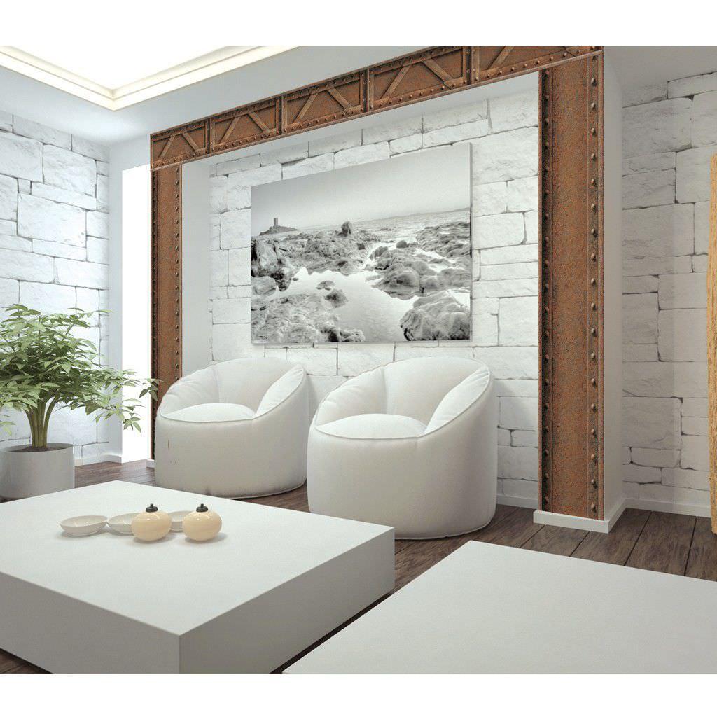 Papier Peint Trompe L Oeil Koziel vintage wallpaper / vinyl / patterned / metal look - 8888