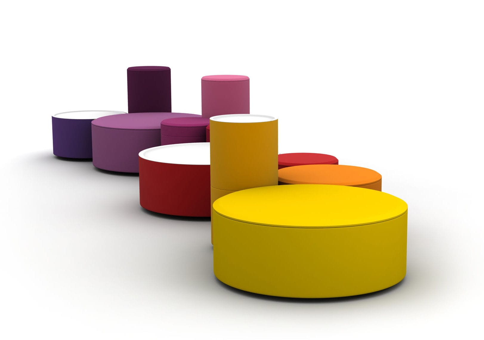 Pop Art design pouf / fabric / round / modular - ROUNDABOUT - LINA ...