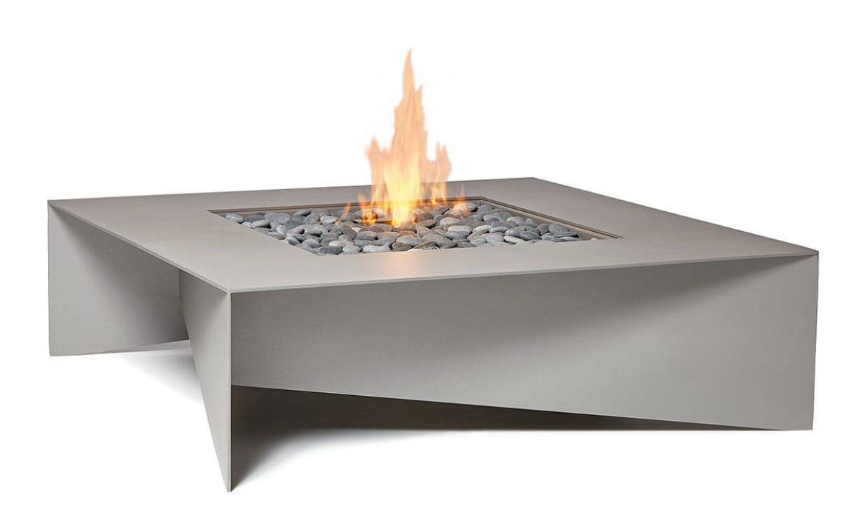 Gas Fire Pit Cor Ten Steel Aluminium Contemporary