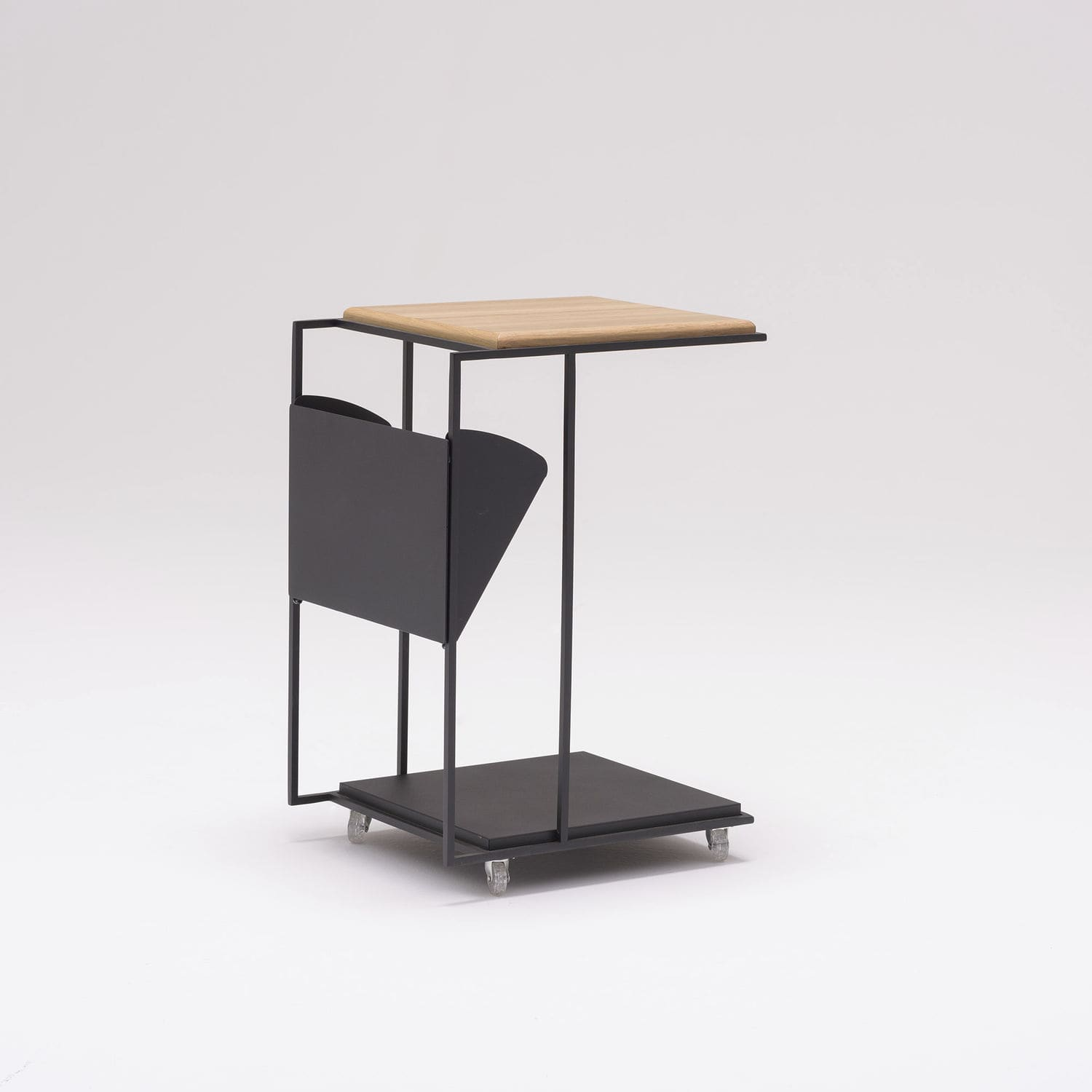 Contemporary Side Table Wooden Metal Rectangular Frame C By Ece Yalım Design Studio