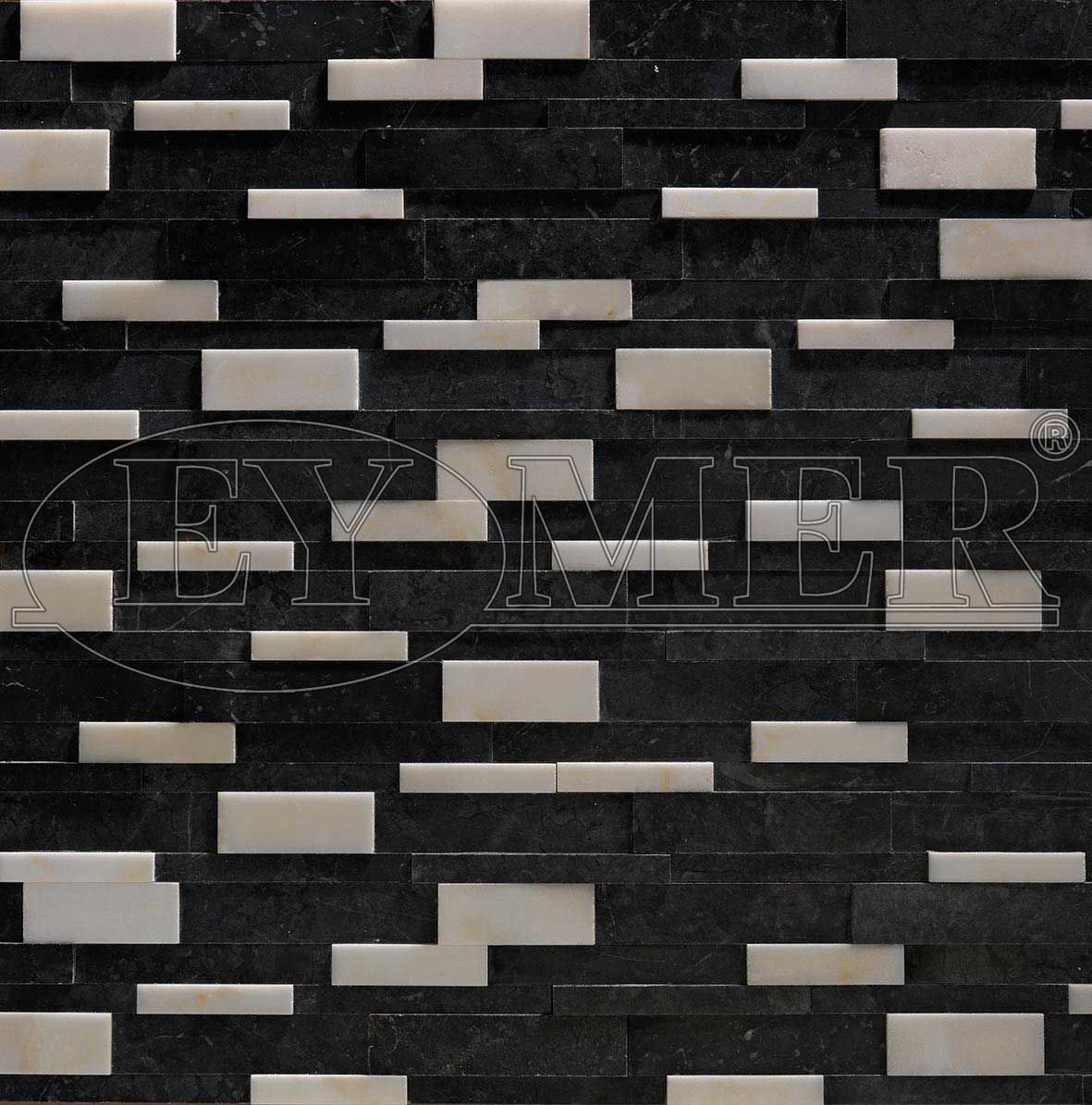 Marble Wall Cladding Black Marble Exclusive Design Eymer Outdoor Indoor Stone Look