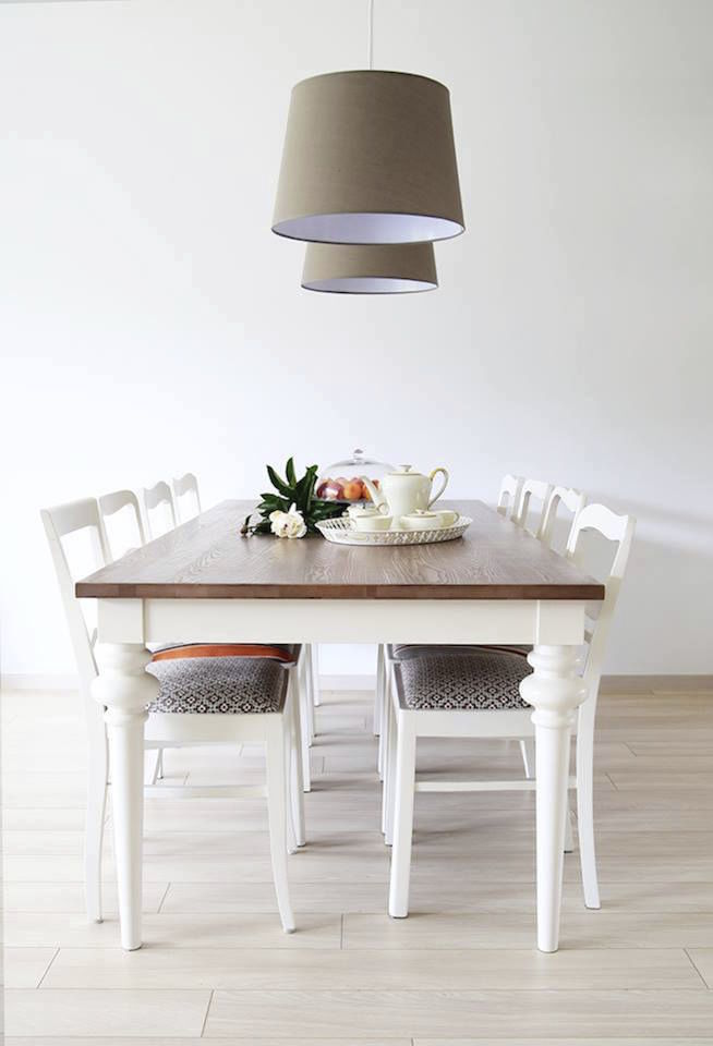 Tavolo Bianco Stile Provenzale.Traditional Dining Table Oak Beech Plywood Deco Miloni