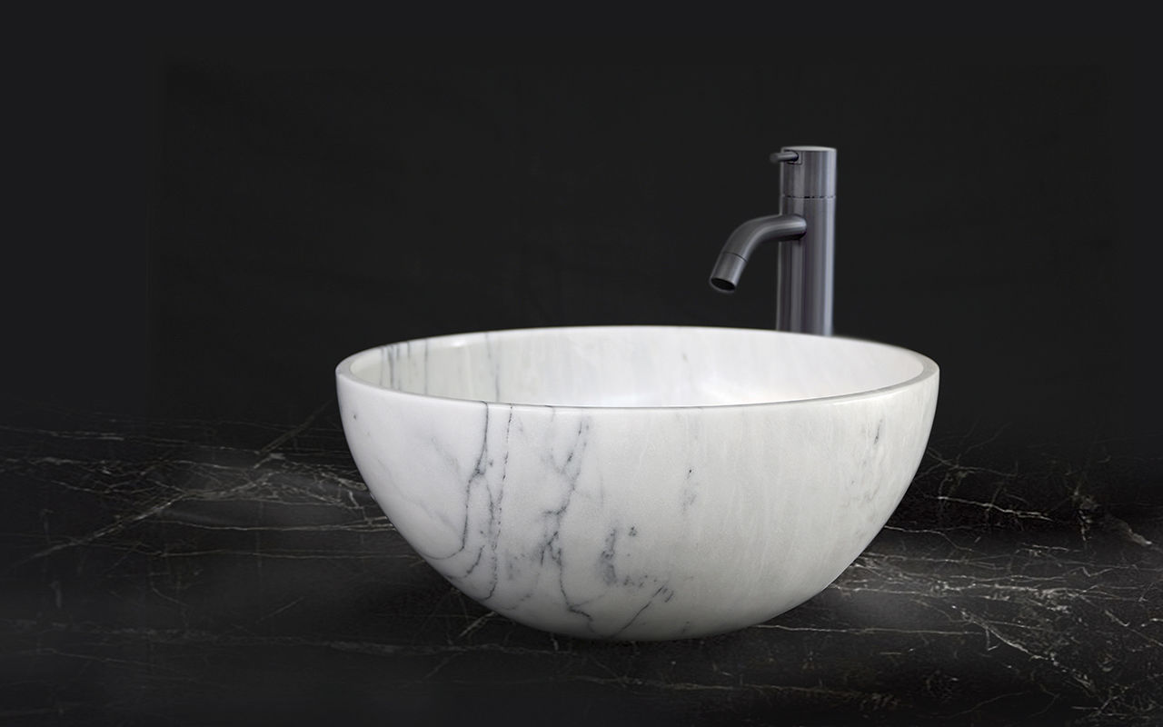 Countertop Washbasin Top Mount Sinks Maami Home Rectangular Marble Contemporary